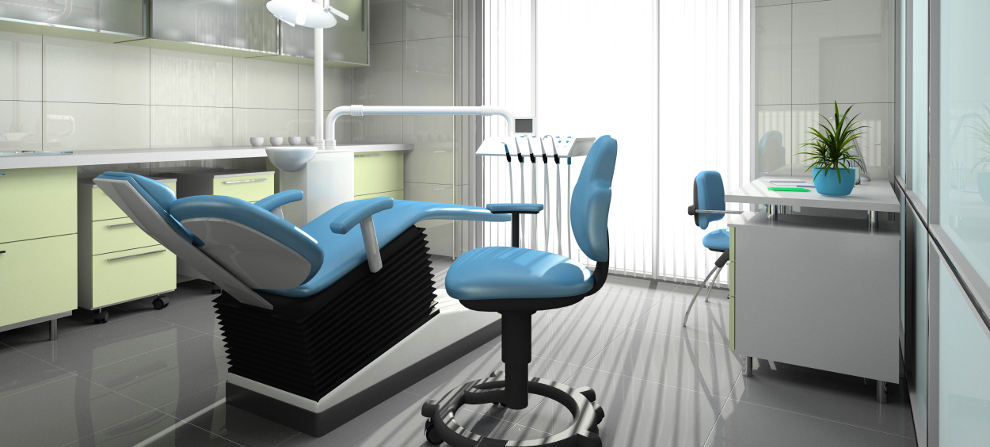 Interior of a stomatologic cabinet